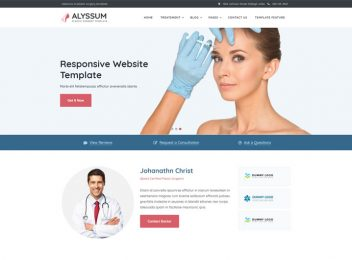alyssum plastic cosmetic surgery website templates