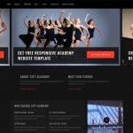 city dance academy website templates