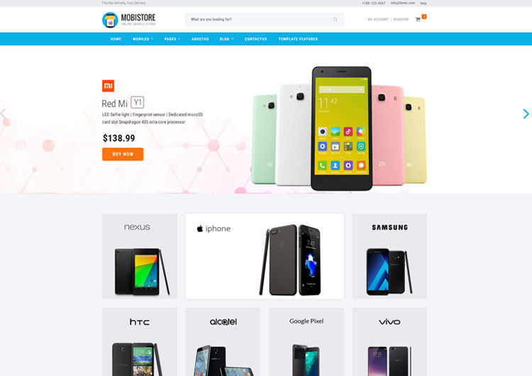 online mobile store shopping website template