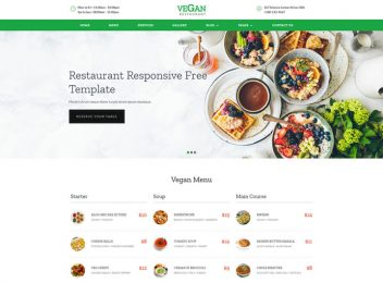 Restaurant food banquet responsive templates