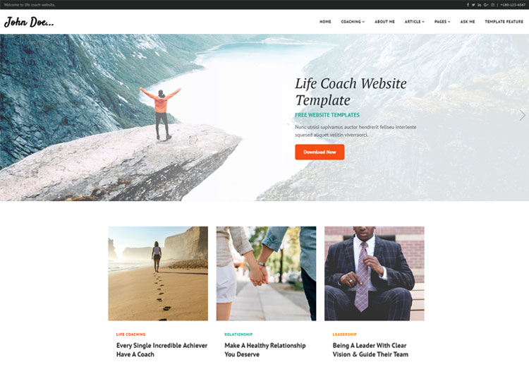 life coach motivational speakers html5 template