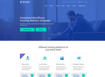 wphost wordpress hosting bootstrap website template