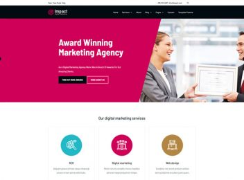 Impact An Seo Company Html5 Website Template