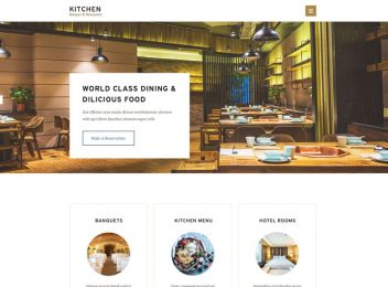 kitchen restaurant hotel banquet html5 template