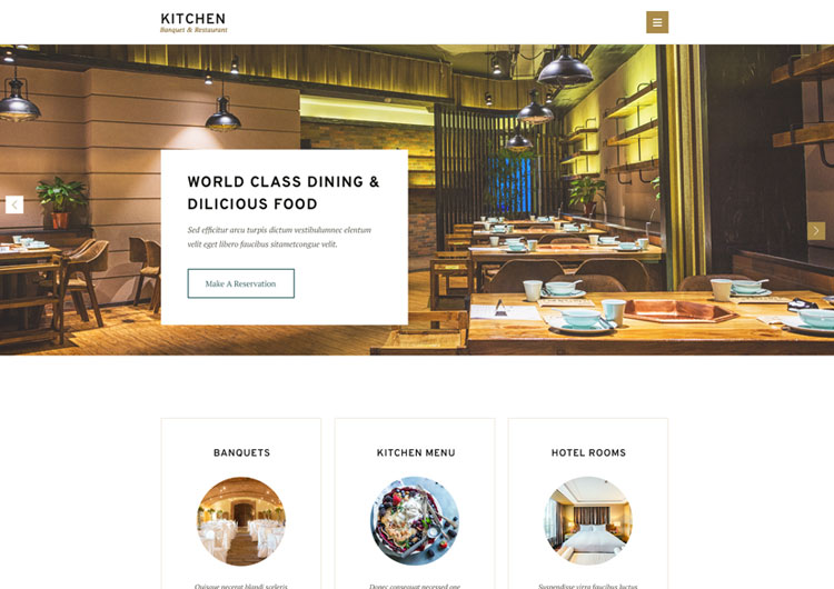 Kitchen Restaurant Hotel Banquet Html Template  Ease Template