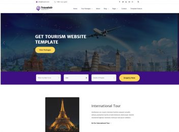 tour travel & tourism HTML website template
