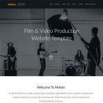 motion video production company responsive template