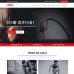 fitness website template stunning design layout fitness trainer
