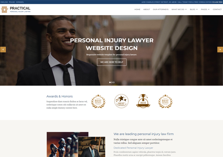 Lawyer Website Template Practical Professional Design