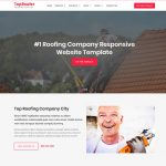 best roofing service website template